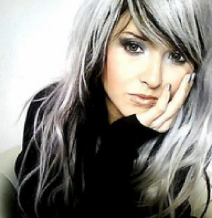 black and white hair color - Google Search | Hair Color | Pinterest ...