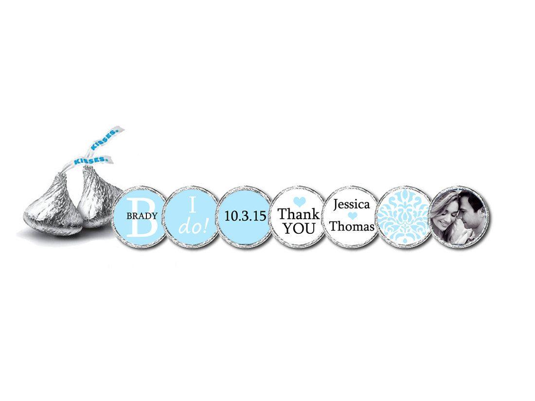 Hershey Kiss Sticker Lifesaver Mint Candy Labels BLUE Wedding Bridal ...