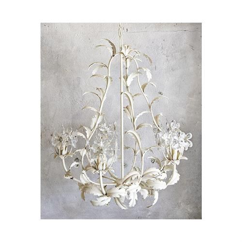 Vintage metal white chandelier with crystal flowers by gardenhouse vintage metal white chandelier with crystal flowers by gardenhouse on homeportfolio aloadofball Choice Image