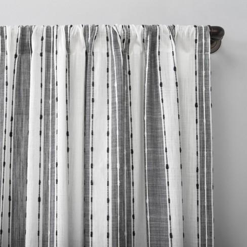 Archaeo Slub Texture Stripe Cotton Curtain In 2020 Black