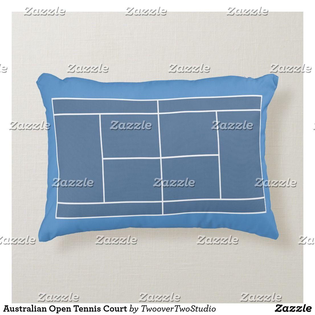 Australian open tennis court accent pillow australian