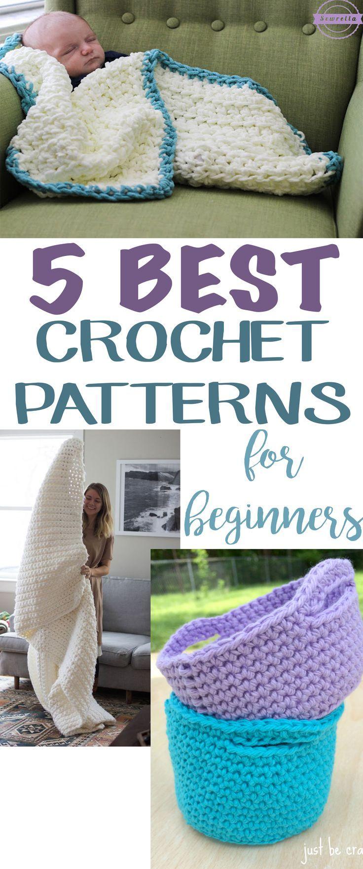 5 Best Patterns for Crochet Beginners | Easy crochet patterns, Easy ...