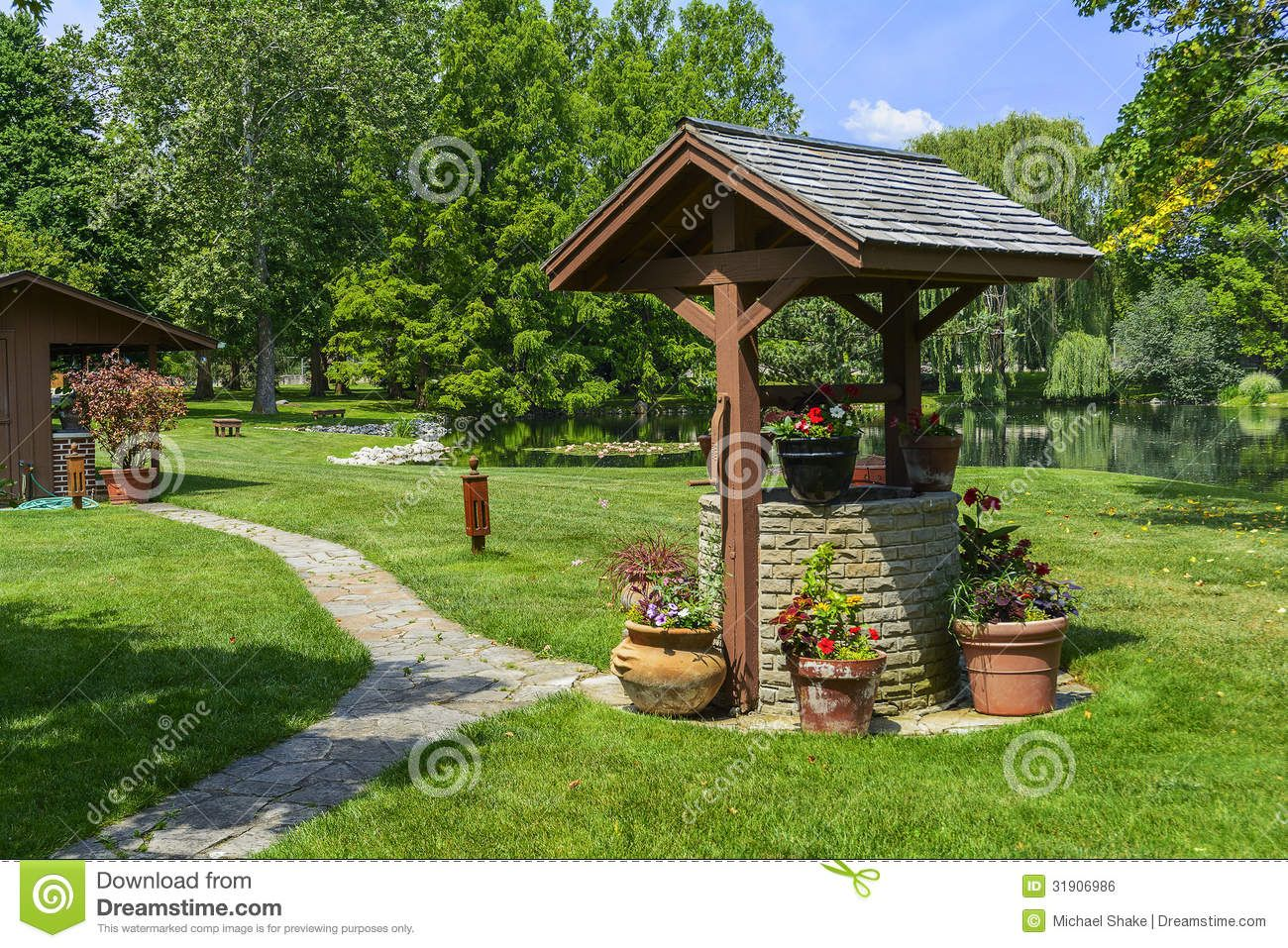 Garden designs with bridges and wishing wells landscaping ideas - Wishing Wells Yahoo Image Search Results