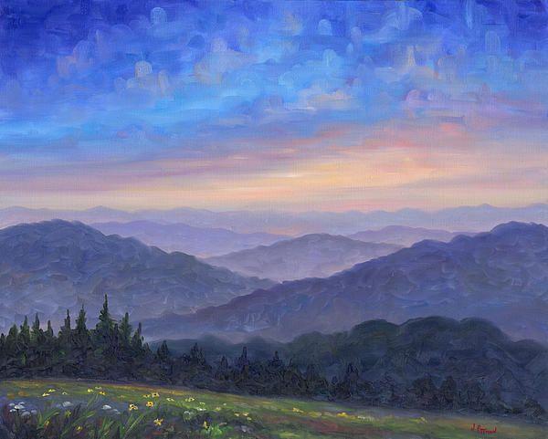 Smoky Mountain Wildflowers By Jeff Pittman Mountain Paintings Landscape Paintings Oil Painting Landscape