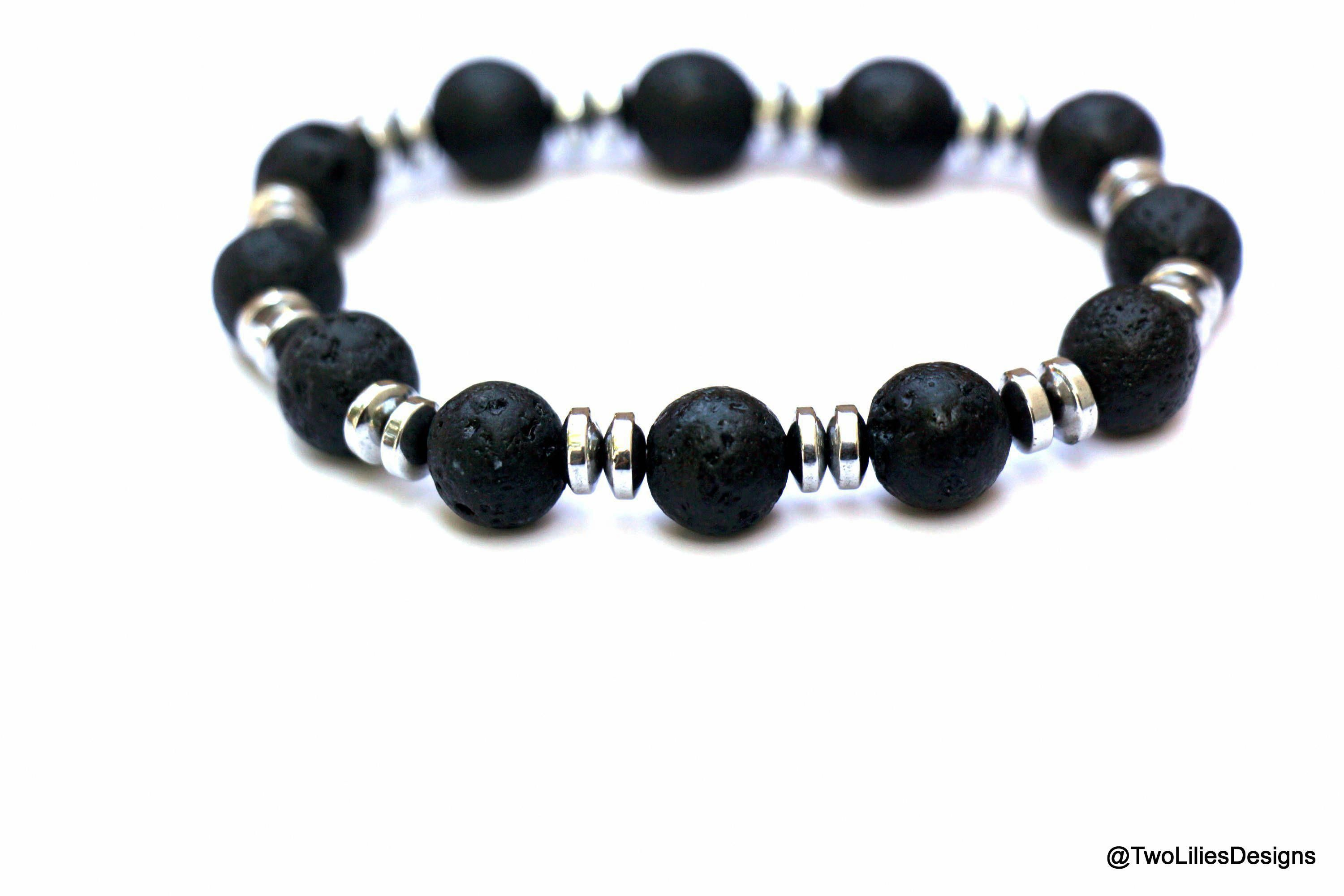 Men Bracelet Lava Beaded Bracelet Lava Rock Bracelet Jewelry For