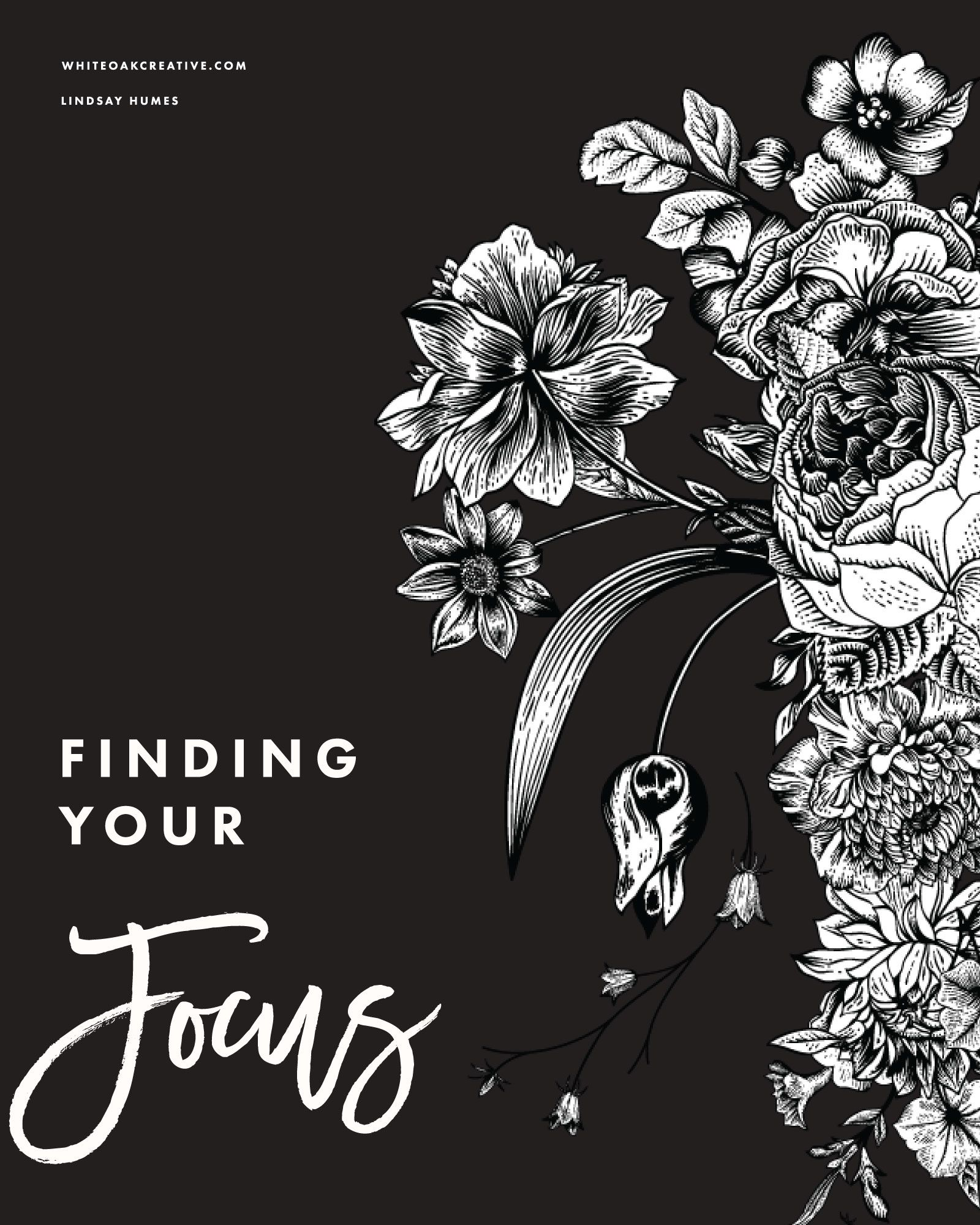 Find Your Focus Worksheet for Bloggers Finding yourself