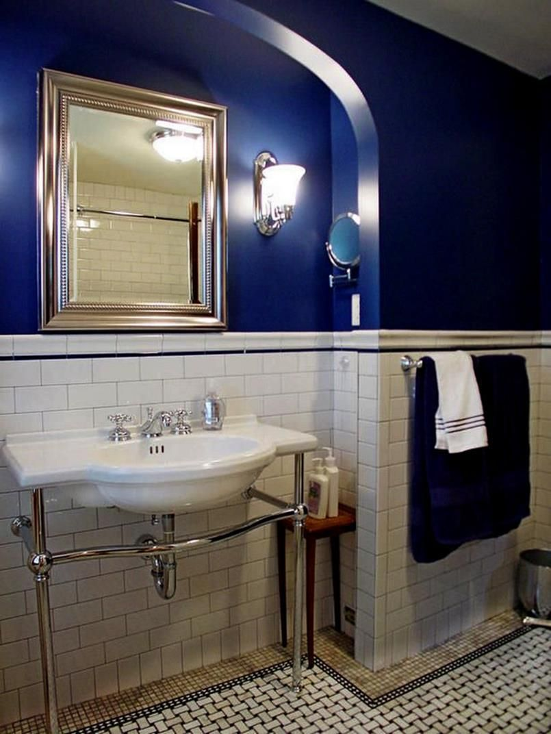 19 Amazing Royal Blue Bathroom Sets | Royal blue bathrooms