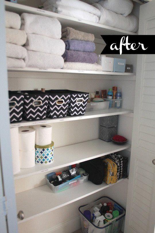 Beautifully Organized Linen Closets Linen closet