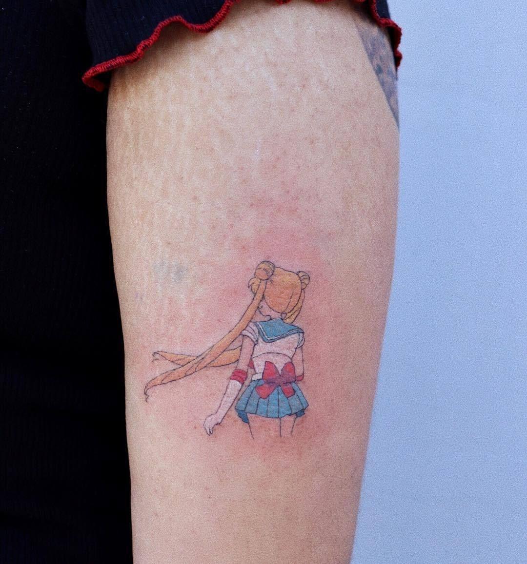 𝐬𝐮𝐠𝐚_𝐧_𝐜𝐫𝐞𝐚𝐦 Sailor moon tattoo, Kawaii tattoo