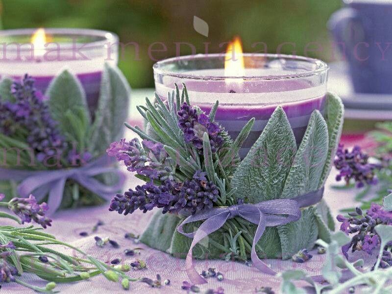 lavendel mit wollziest lavendel gl ser dekorieren lavendel und frauenfr hst ck. Black Bedroom Furniture Sets. Home Design Ideas