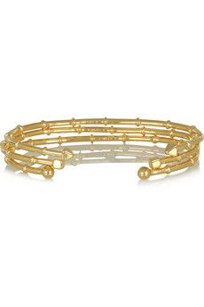 Arme De L'Amour Set of three gold-plated bracelets   NET-A-PORTER