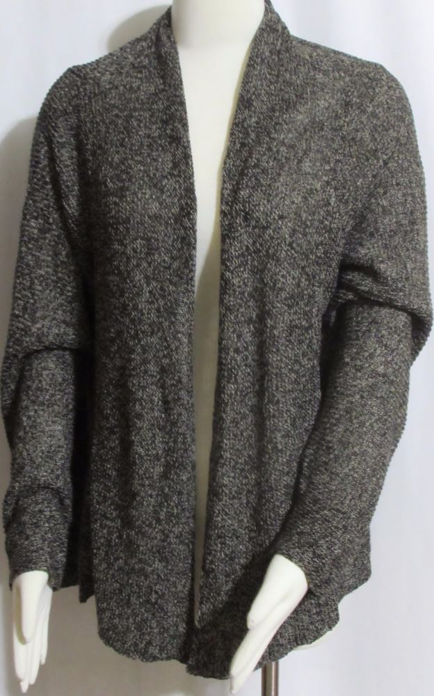 NEW Womens Ladies Plus EILEEN FISHER Brown Open Cardigan Sweater ...