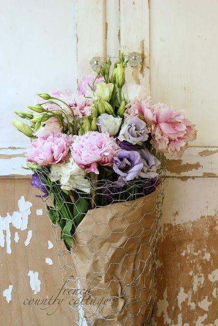 FRANCÊS casa de campo: DIY fio cesta de flores