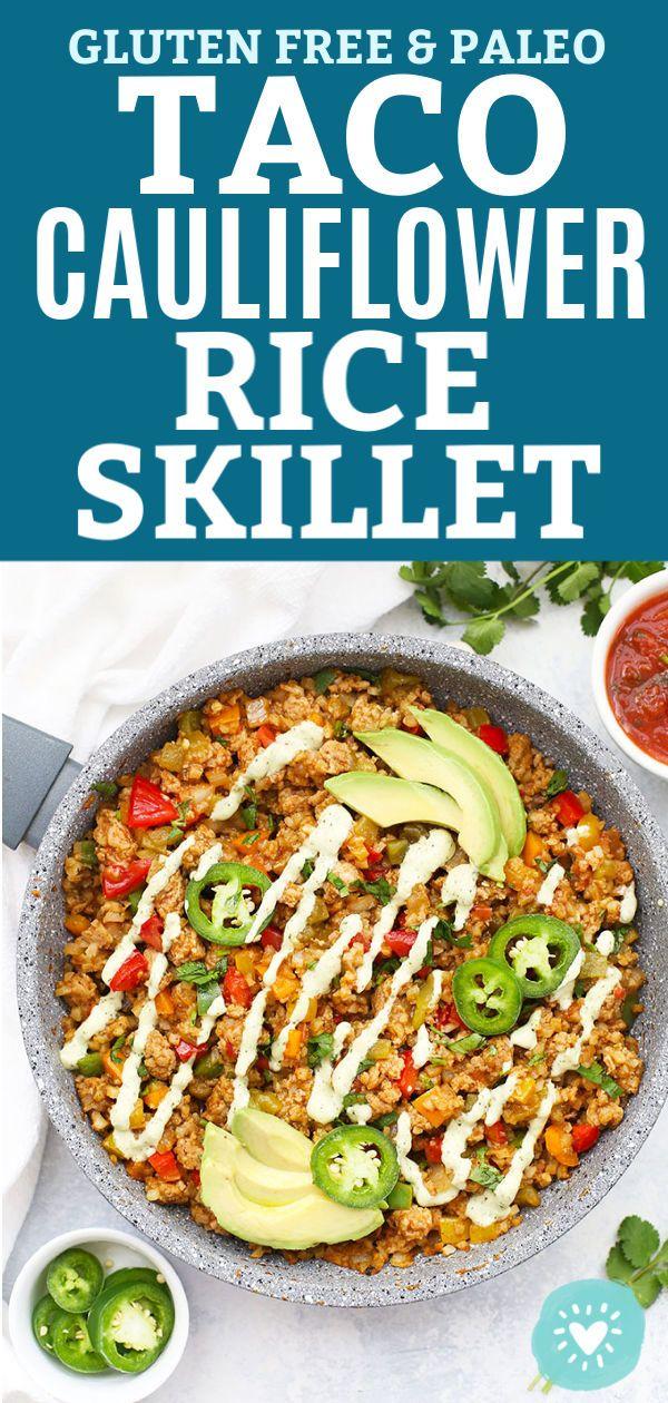 Taco Cauliflower Rice Skillet (Paleo & Gluten Free) images