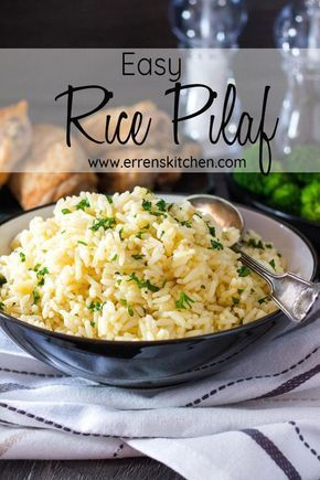 Rice Pilaf This easy Rice Pilaf recipe is the perfect side dish to go with with anything from chicken to fish and makes a great change from plain white rice.