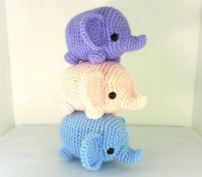 Amigurumi Animals For Beginners : Tiny Elephant Amigurumi, Beginner Amigurumi Patterns ...