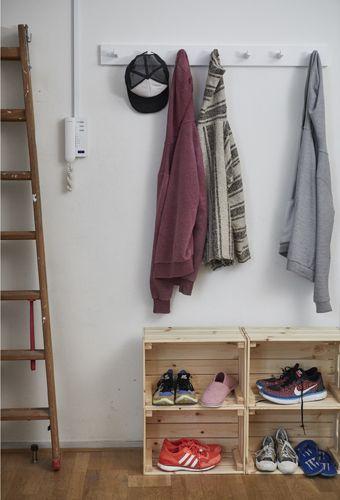 Ikea Deutschland Kubbis Leiste Mit 7 Haken Weiß Und Ein Paar