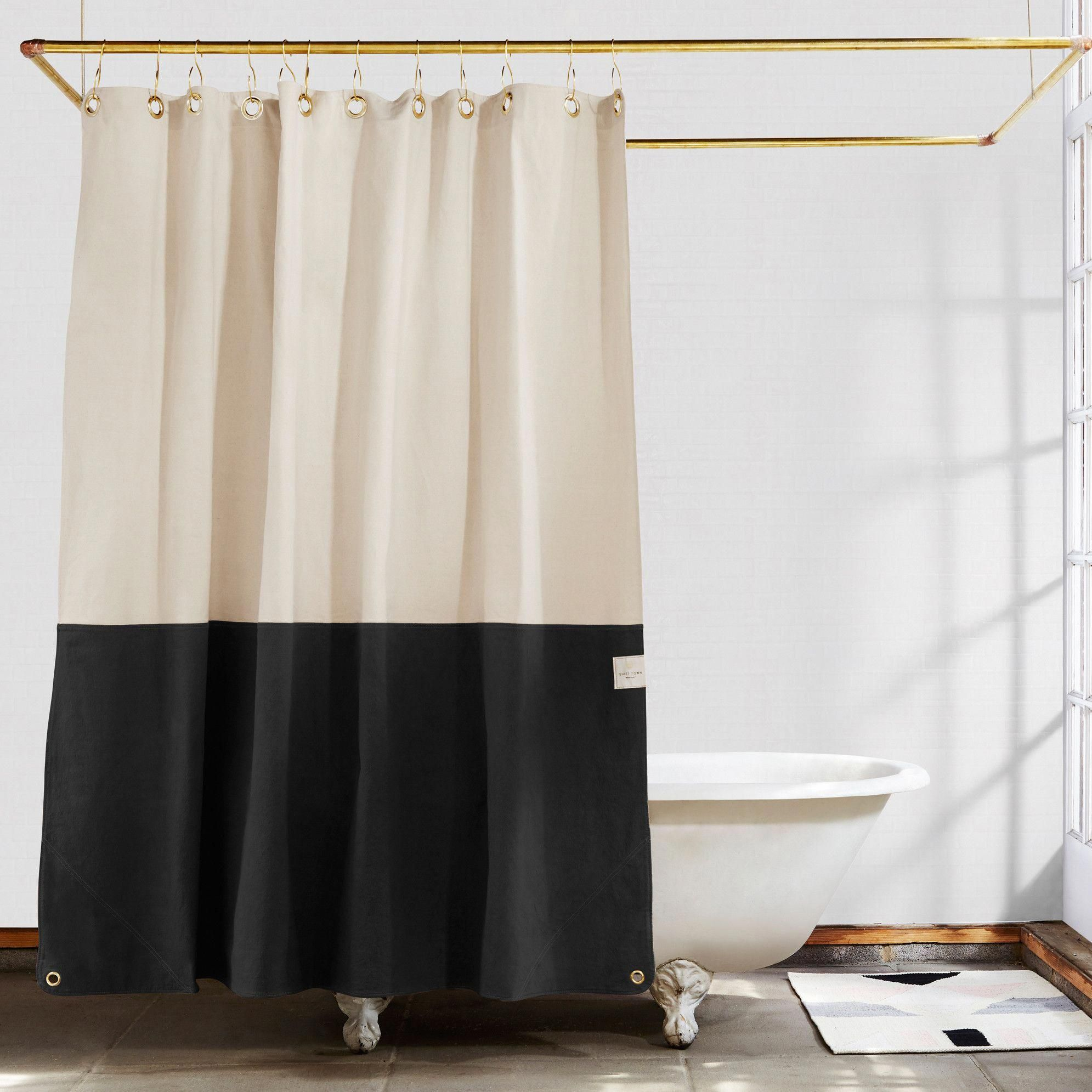 Orient Night Ride Color Blocked Shower Curtain In 2020 Cool