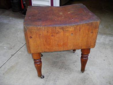 Saw It On Craigslist Very Old Very Heavy Butcher Block Table Butcher Block Tables Butcher Block Table