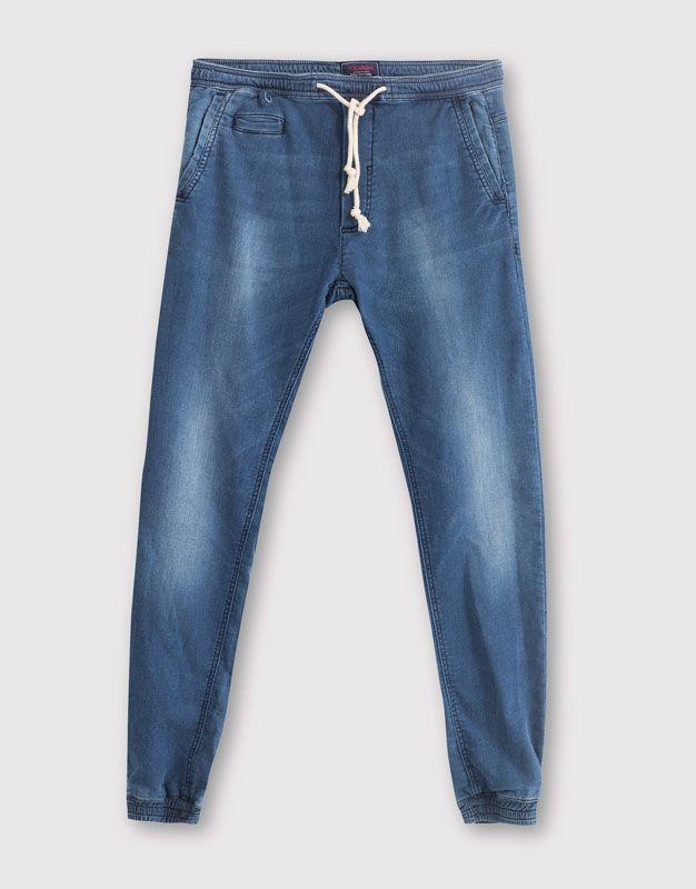 Jogging Slim Fit Jeans Hombre Pull Bear Espana Pantalones Vaqueros De Hombres Vaqueros De Hombre Pantalon Hombre