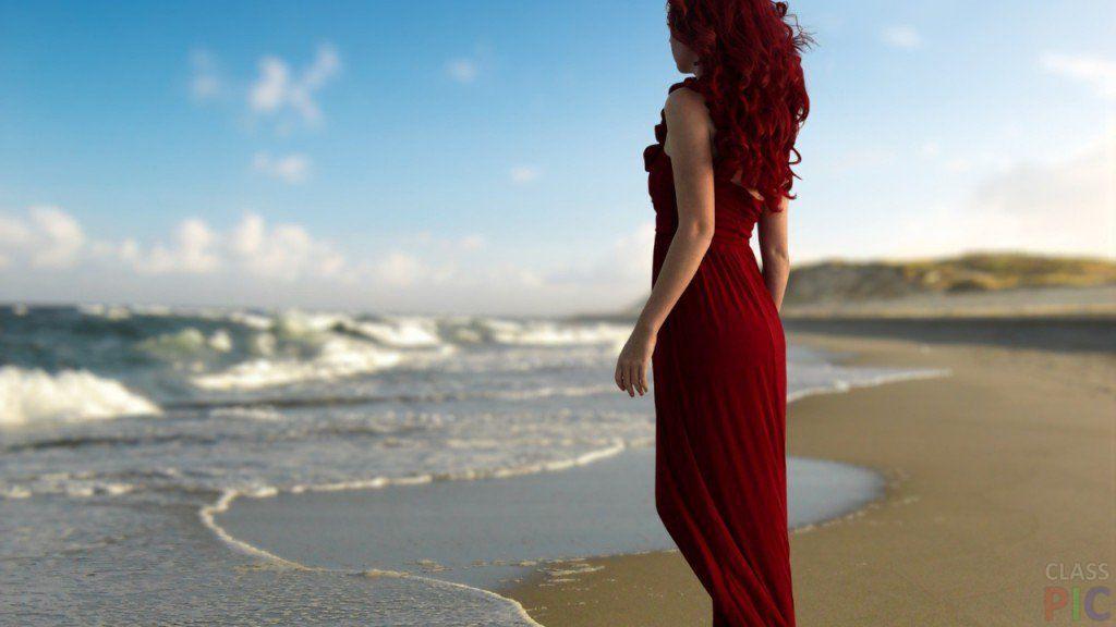 Самые красивые блондинки на пляже со спины