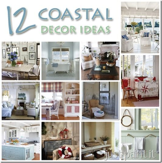 Coastal Décor Ideas - Just Paint It Blog  sc 1 st  Pinterest : ocean decorating ideas - www.pureclipart.com