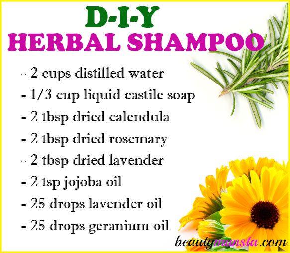 Diy Herbal Shampoo Recipe For Healthy Hair Beautymunsta Free Natural Beauty Hacks And More Hair Care Recipes Herbal Shampoos Diy Hair Care