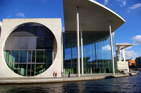 The Chancellor S Office Berlin Nicknamed The Washing Machine One Of My Favourite Destinations On The River C Architecture Modern Architecture Concept Home