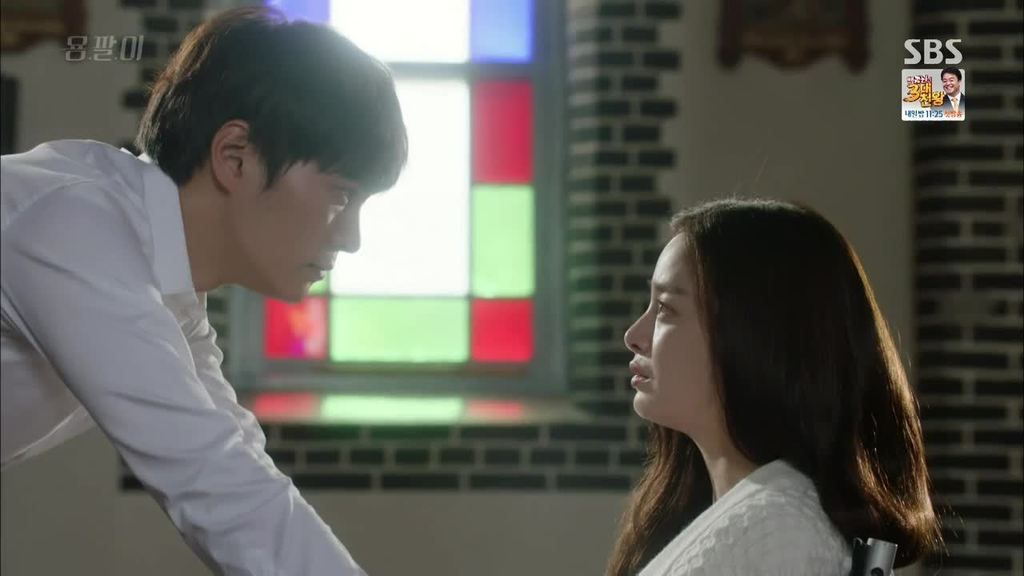 Yong-pal: Episode 8 - Yong Pal and Yeo Jin already in love, in a church with a priest handy - no wedding yet, a decision they may end up regretting
