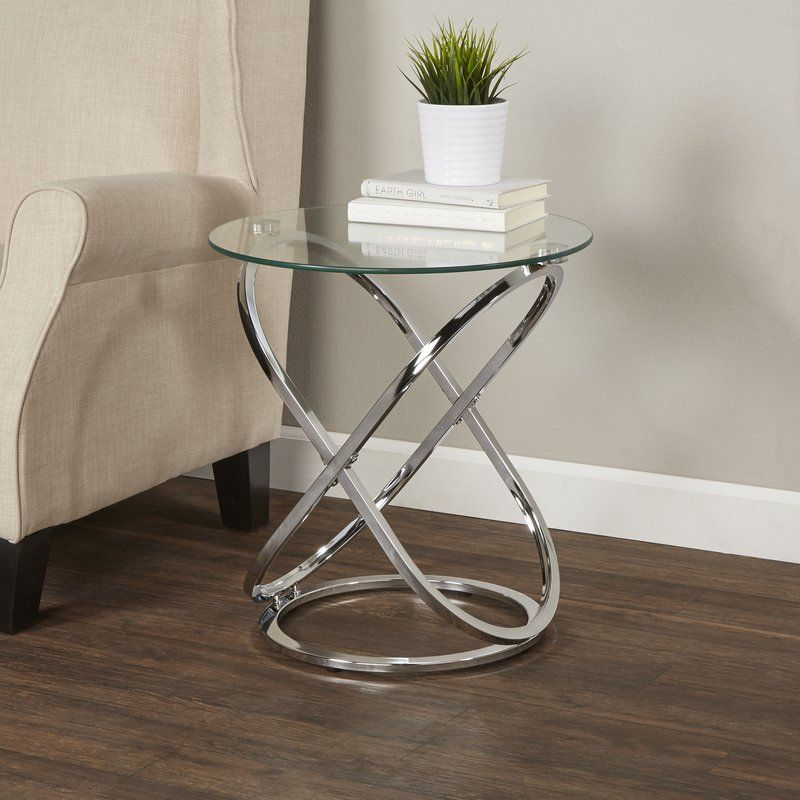 Heineman End Table Glass End Tables Modern Glass Coffee Table