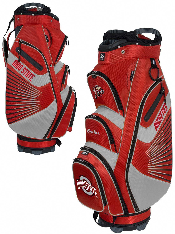 Team Effort Bucket Ii Cooler Ncaa Collegiate Golf Cart Bag Ohio State Buckeyes Golfbagsfor