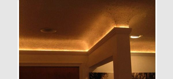 Another example of crown molding cove lighting LED or christmas