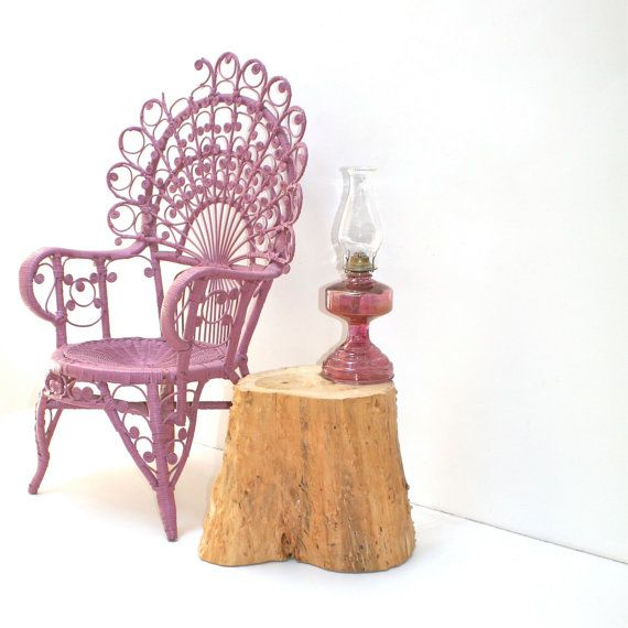 Stump Sofa Sidetable by realwoodworks1 on Etsy, $190.00