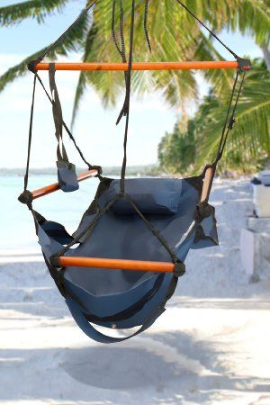 Amazing Amazon.com : Best Choice Products® Hammock Hanging Chair Air Deluxe Sky  Swing Outdoor Chair Solid Wood 250lb Blue : Patio, Lawn U0026 Garden