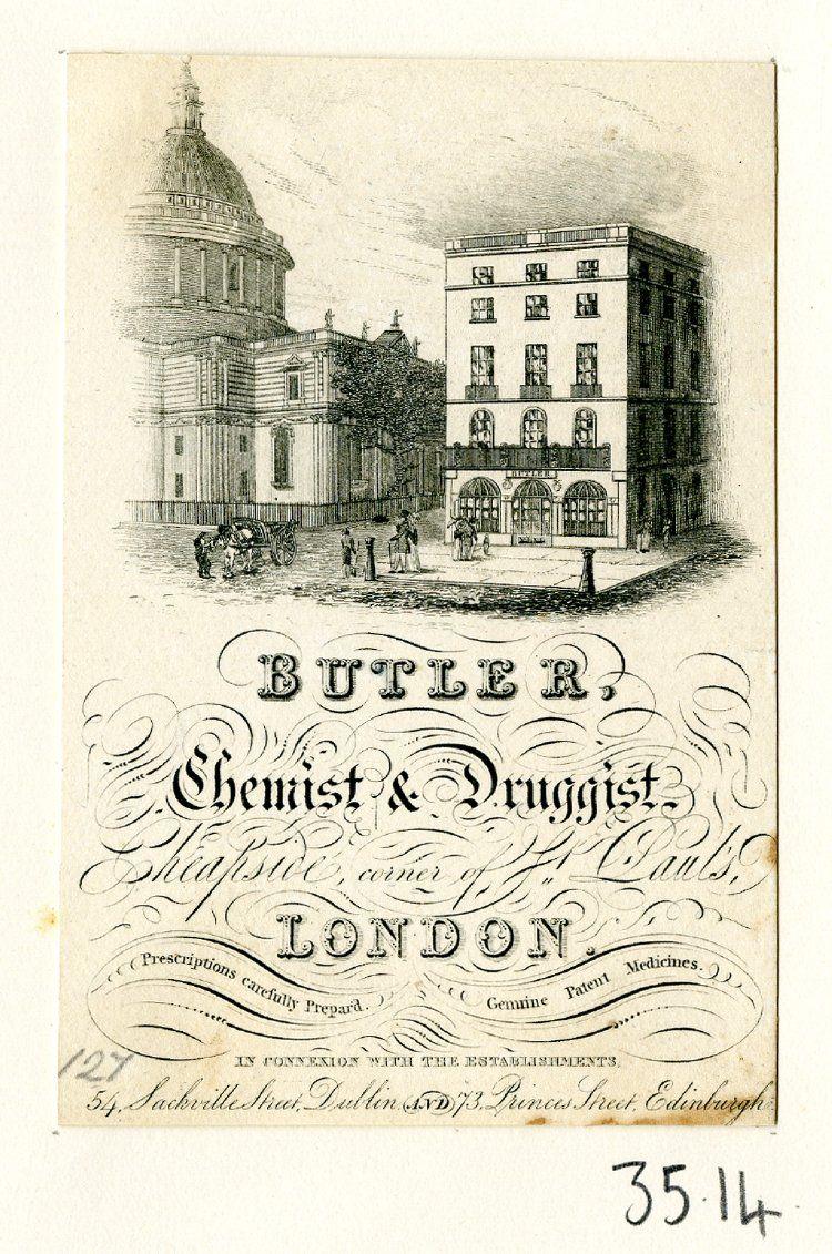 Chemist & Druggist Printed cards, Vintage ephemera, Druggist