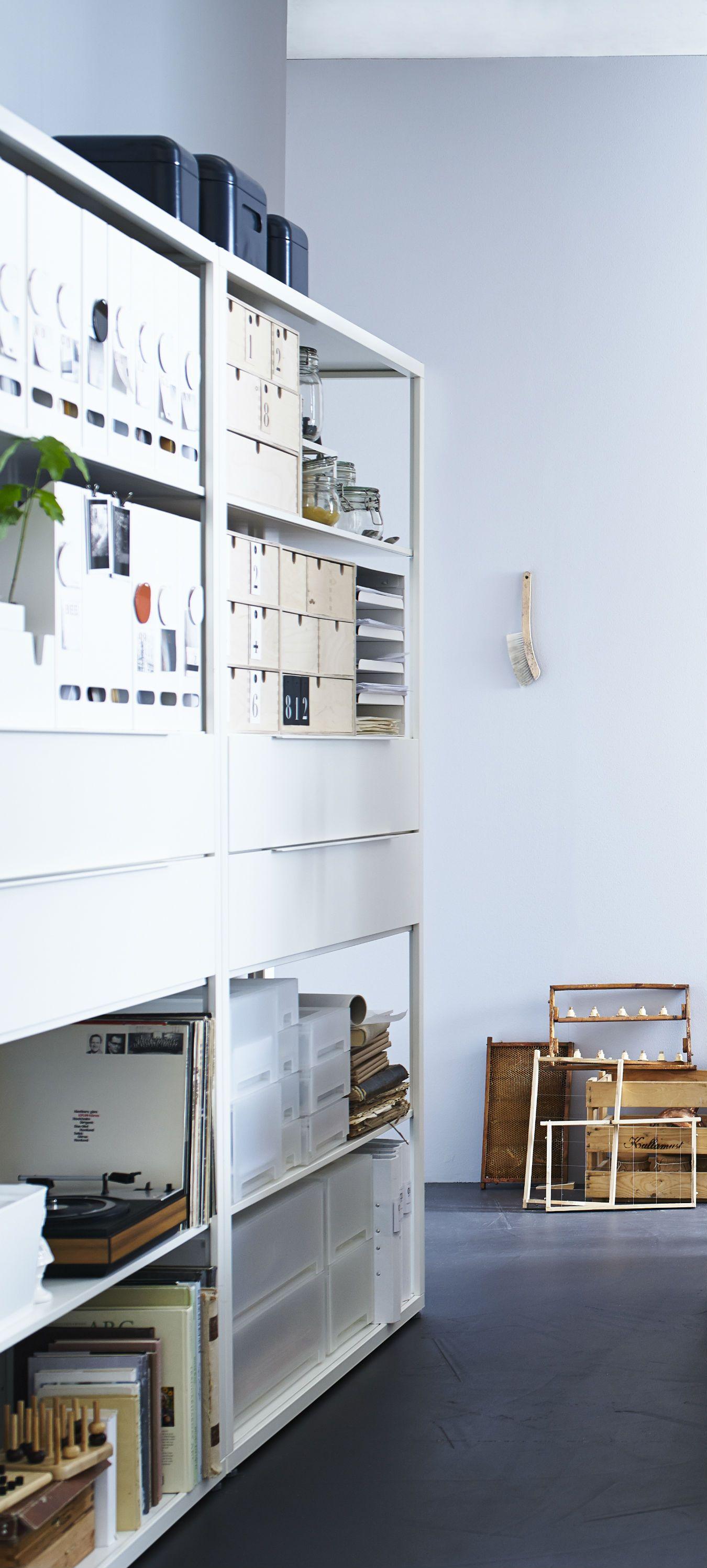 Fj 196 Lkinge Shelf Unit With Drawers White 2015 Ikea Catalog