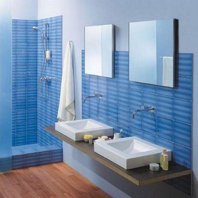 Azulejos azules ambientes cer micos pinterest - Banos en azul y blanco ...