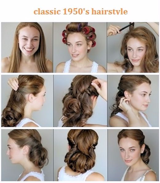 Classic 1950s Hairstyle Vintage Hairstyles For Long Hair Vintage Hairstyles Tutorial Hair Tutorial