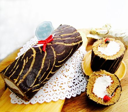 chocoffee log cake