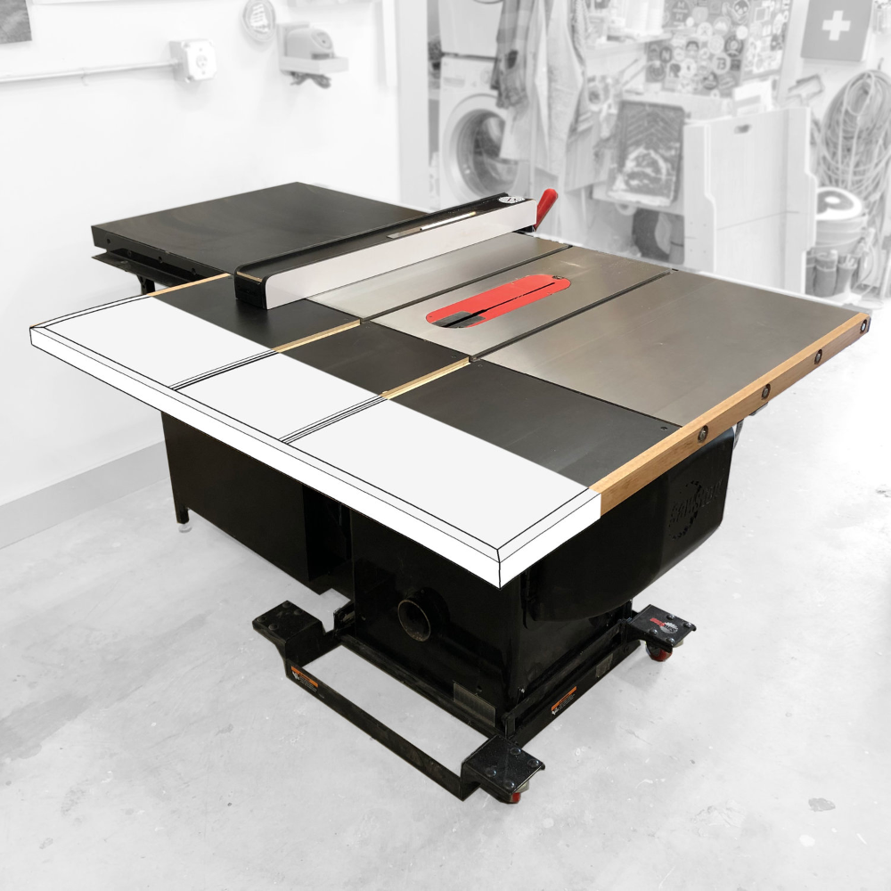 Diy Outfeed Table Plans Sawstop Cabinet Saw Almfab Table Plans Cabinet Custom Furniture