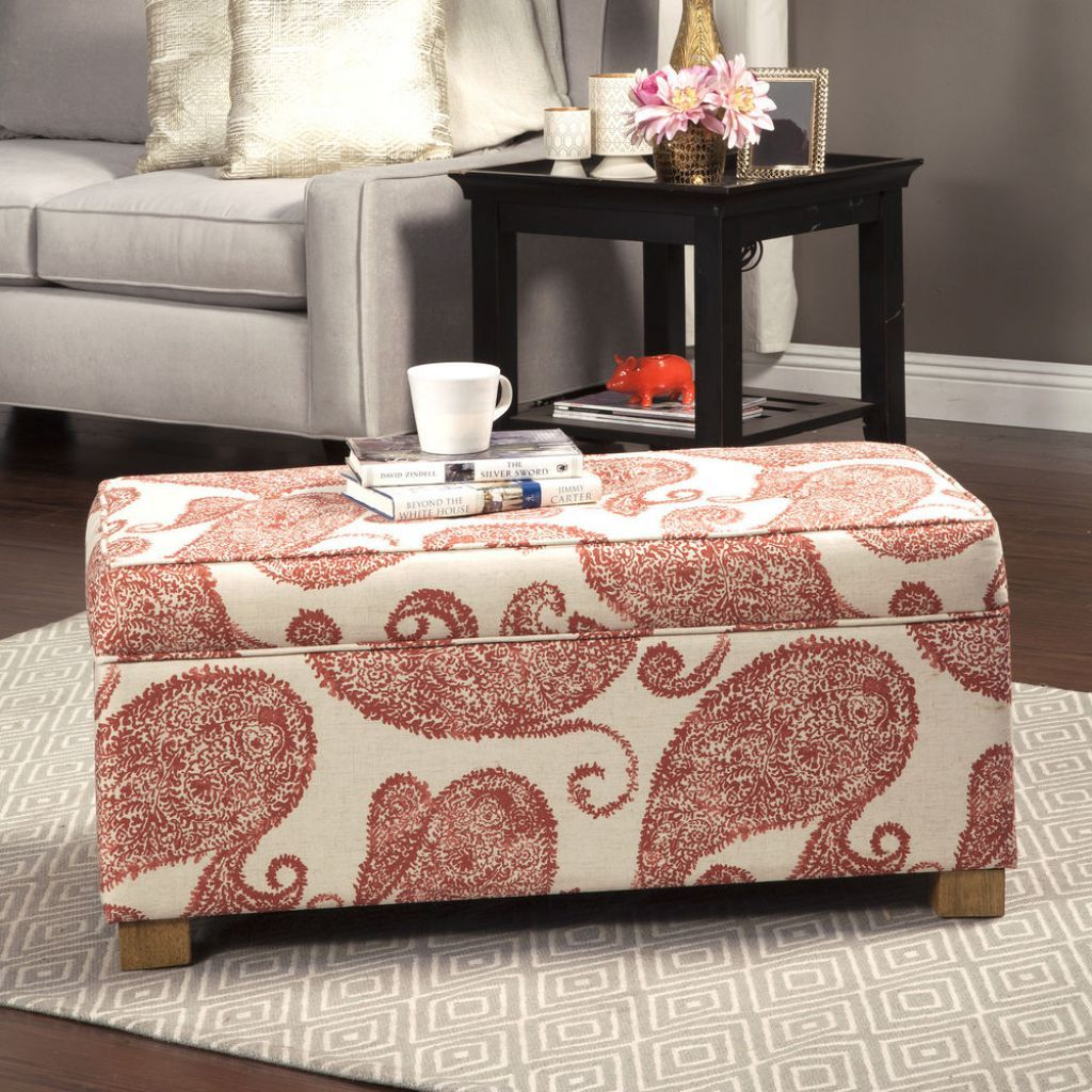 Paisley Pattern Rectangular Storage Ottoman | accesorios decorativos ...
