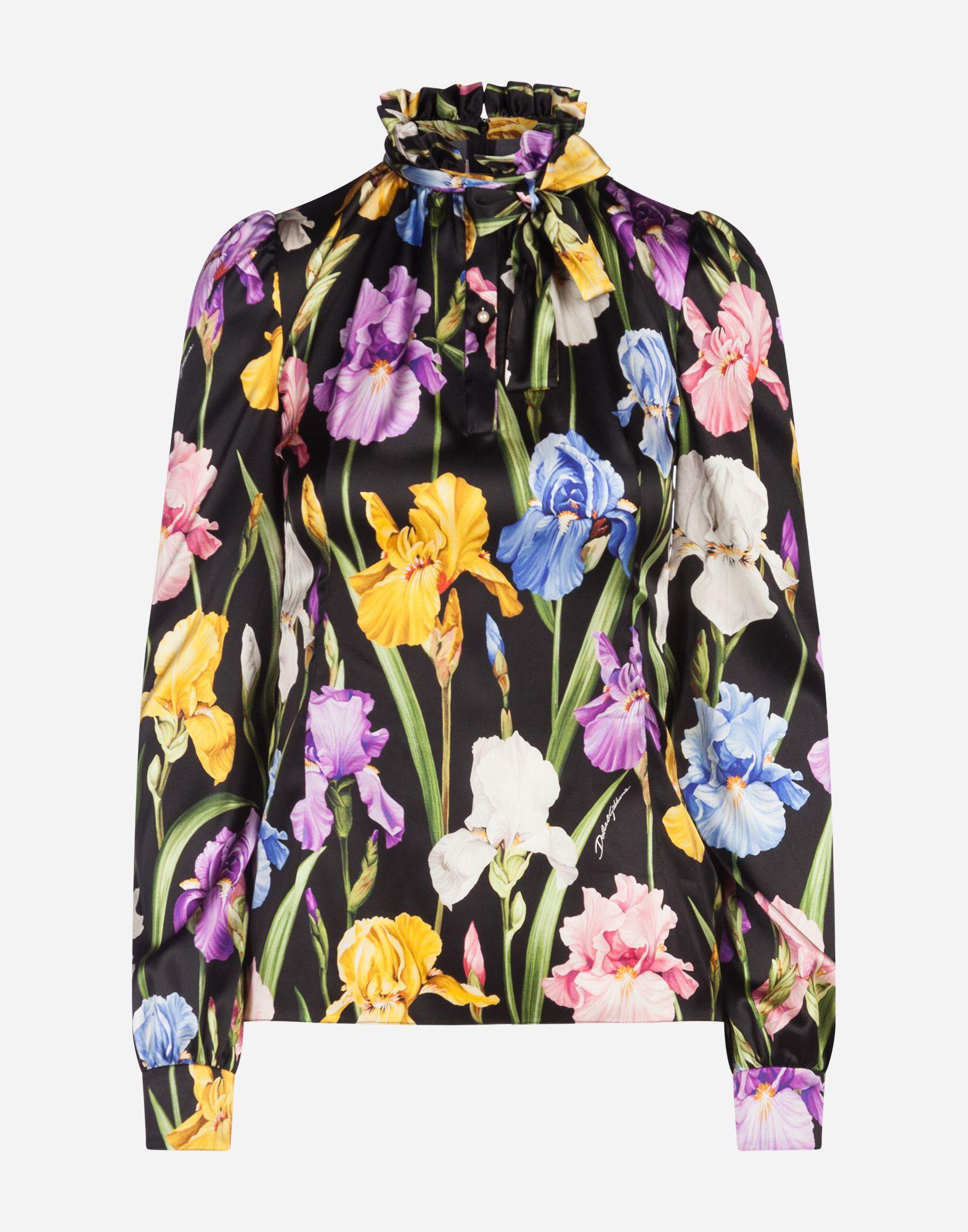 f65bda21071c8d Dolce   Gabbana - Iris-print satin blouse ( 1