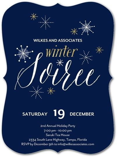 winter twinkles - corporate holiday party invitations in baltic or, Party invitations