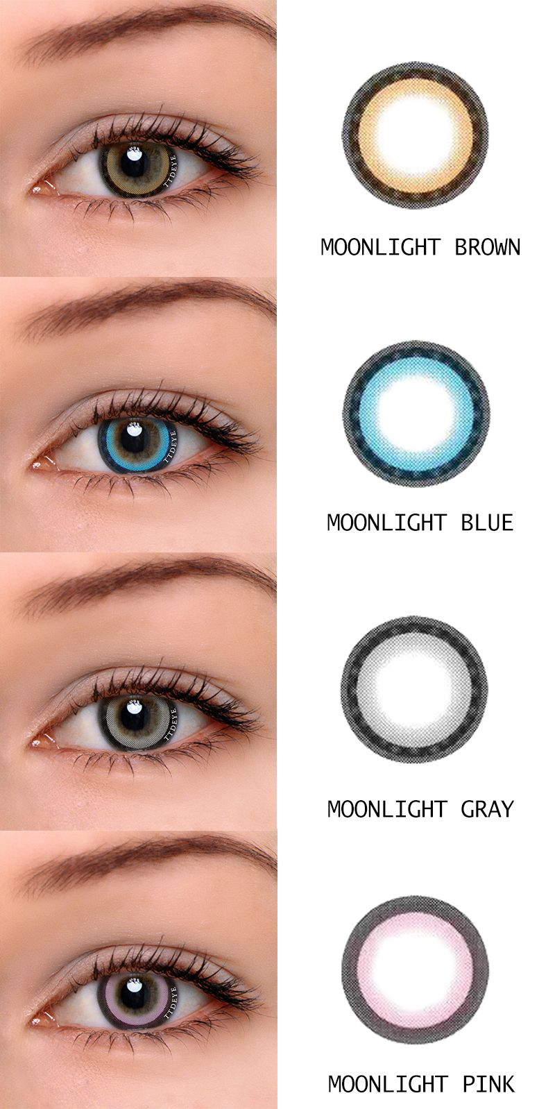 . Colored contact lenses online shop. Moonlight