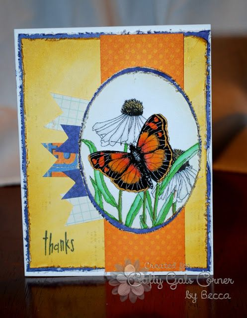 The Damsel of Distressed Cards: Summertime Fun - Crafty Gals Corner