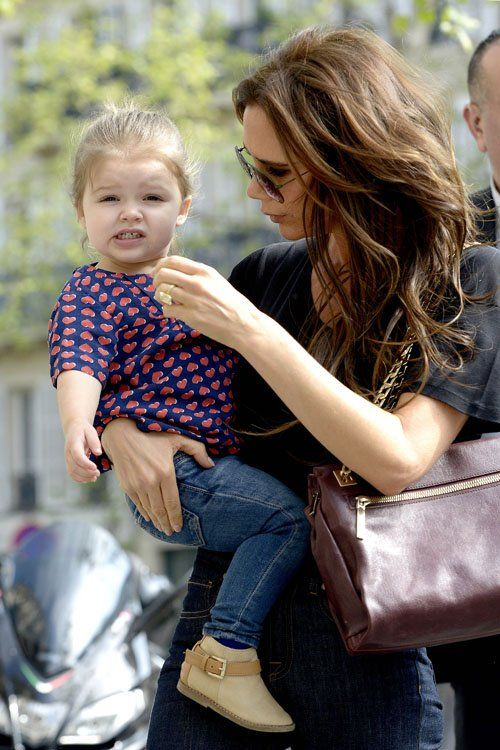 Victoria and Harper Beckham 2013
