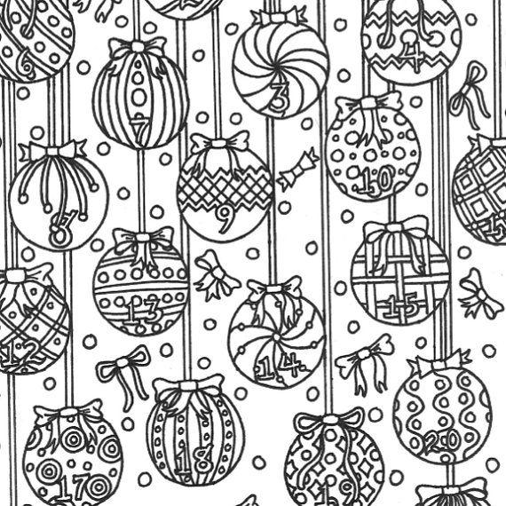 Advent+Weihnachten+Färbung+Seite+für+Erwachsene+von+MarblesAndJam ...