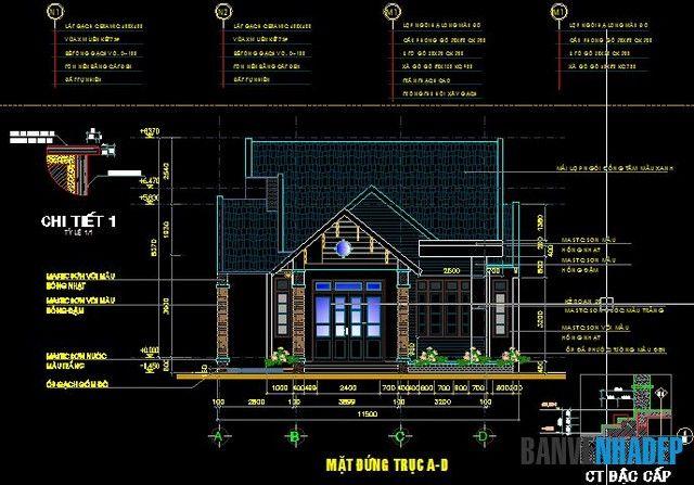 Bản vẽ nhà cấp 4 mái Thái được xây dựng trên mảnh đất có diện tích 235m2 với 3 phòng ngủ, 1 phòng khách, 1 phòng thờ, phòng bếp và khu vệ sinh.
