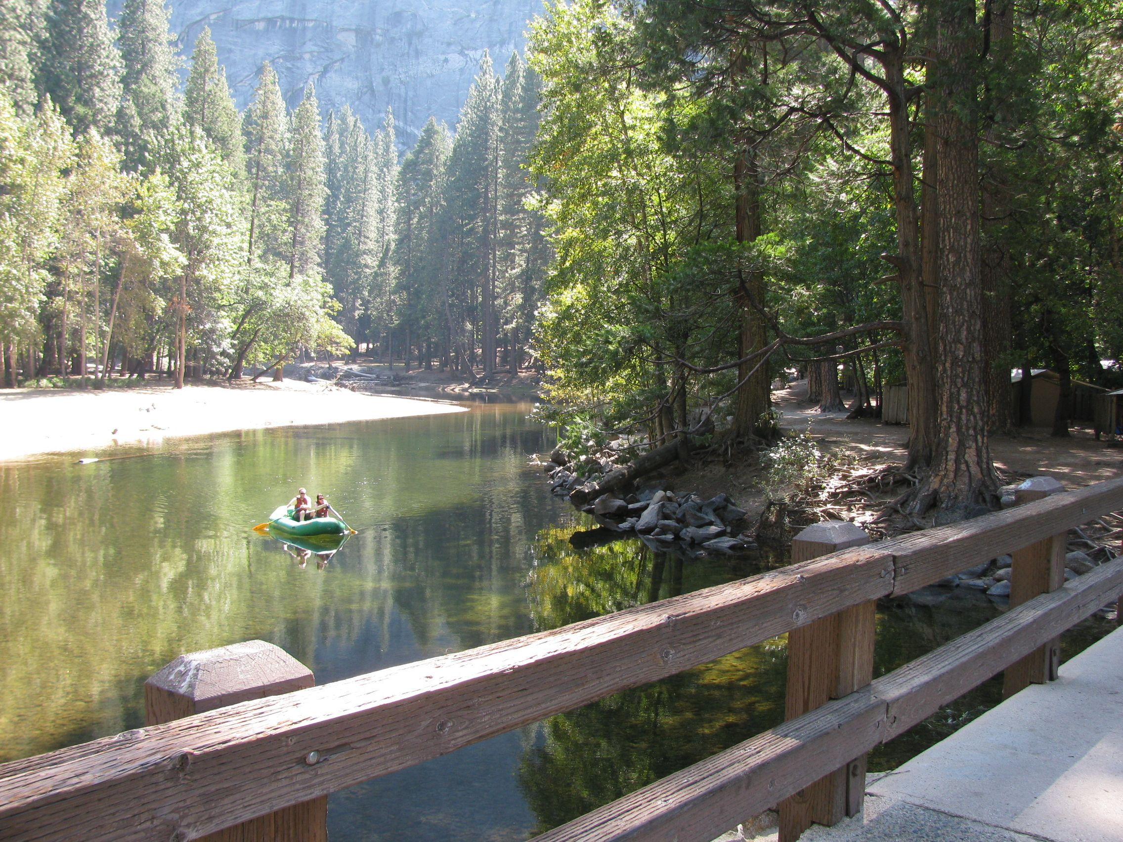 #KpriGoPro Floating down the Merced past Housekeeping Camp, Yosemite Valley.  It doesn't get much better than this.