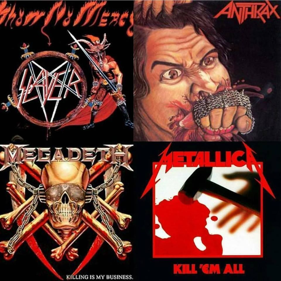 068f17bc7e94 Slayer, Anthrax, Megadeth and Metallica. Which one is your favorite?  Comment below! . Metalheads! We launched The Best Heavy Metal T-Shirt Store  Online!